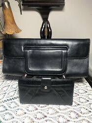 Black HOBO Clutch And Wallet Preowned In Very Good Used Condition $45.00