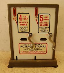 Vintage 10 Cent And 25 Cent Counter Top Stamp Dispenser Machine, 14 T X 11.5 W