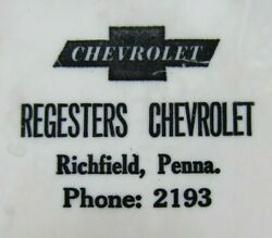 Regesters Chevrolet Richfield Penna Old Advertising Thermometer Sign Made In Usa