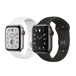 Apple Watch Series 5 40mm 44mm Gps Cellular Lte Titanium Space Black Or Silver
