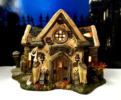 Dept 56 Snow Village Halloween Haunted Cemetery Shed Cool Piece, Hard To Find