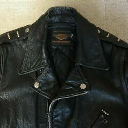 Harley 50and039s Vintage Leather Jacket Buco Beck Japan Used Size S Riders Talon Rare