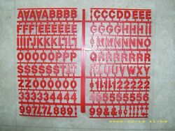 1 Red Coca-cola Menu Board Letters And Numbers Set