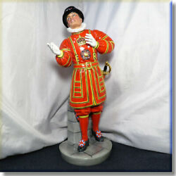 Royal Doulton Prototype For Colonel Fairfax Hn2903 Standing Beefeater 11.75 Tal