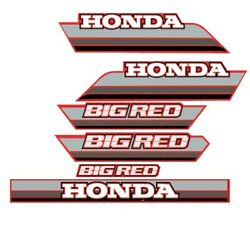 Honda Big Red 250 New Old Stock Decal Set. Oem Size And Quality
