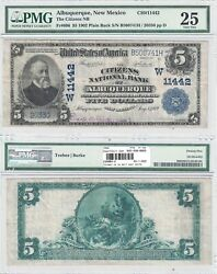 1902 5 Citizens National Bank Of Albuquerque Nm 11442 Pmg Very Fine-25