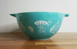 Vintage Pyrex Hot Air Balloon Chip And Dip Bowl 441 Turquoise 1.5 Pint