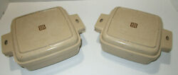 Vintage Littonware Microwave Cookware 1 And 1.5 Qt With Lids Clean