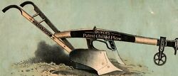 1880and039s Trade Card Oliverand039s Patent Chilled Plow Verso Horse Drawn South Bend A35