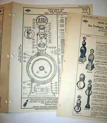 2 1936 Serv Station Equip Co Eco And Ss Tireflator Parts +price List 2 Types