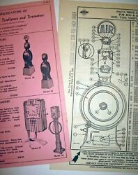 2 1936 Serv Station Equip Co Eco And Ss Tireflator Parts/price Lists 2 Types