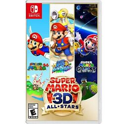 Super Mario 3d All-stars - Nintendo Switch Includes Case And Cartridge
