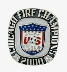 2000 Chicago Fire Mls Lamar Hunt Us Open Cup Champions Soccer Championship Ring