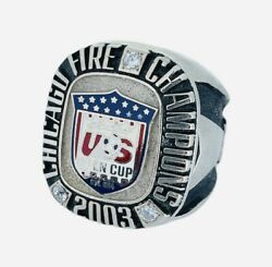 2003 Chicago Fire Mls Lamar Hunt Us Open Cup Champions Soccer Championship Ring