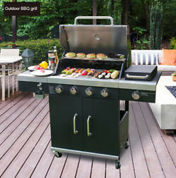 Multifunctional Courtyard Outdoor Gas Bbq Grill Domestic Oven Grill Height 35.4