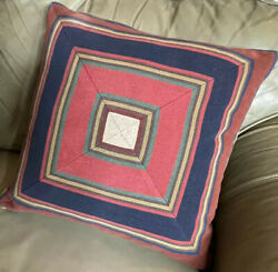 """Throw Pillow, Rare Vintage, Home Decor, Down Filled 18"""" Square"""