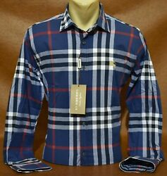 New With Tags Brand New MEN#x27;S BURBERRY Long Sleeve SHIRT Size Small to 2XL $68.90