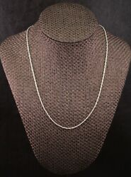 James Avery Light Rope Chain Necklace Sterling Silver 20 Length Ch-13