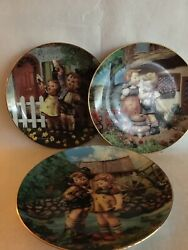 Mj Hummel Little Companions Collector Plates By Danbury Mint — Lot Of 11