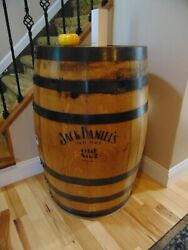 Jack Daniels Whiskey Empty Barrel, Branded - Man Cave Items - Finished