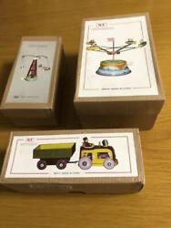 Vintage Tin Wind Up Toys Japan Set Of 3 Retro With Box
