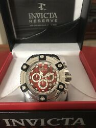 Grand Octane Swiss Silver/red Abalone 24325 Reserve Watch