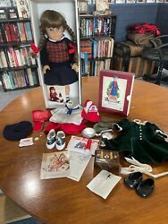 Retired American Girl Doll Molly, Pleasant Co. Books, Christmas Set, Camp Set