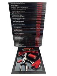 Singer Sewing Reference Library Books Lot Of 30 Plus Master Index 1984-1996