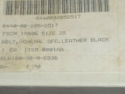 General Officers Belt Black 35 Leather W Snaps And Keeps And Buckle