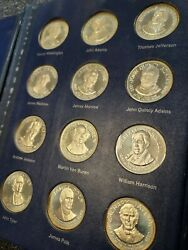 Franklin Mint Treasury Set Of Presidential Commemorative Medals Sterling Silver