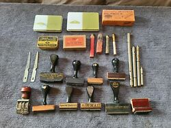 Antique Rubber Stamp And Office Supplies Of Famous Bookbinder James Macdonald
