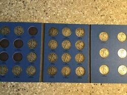 Liberty Standing Half Dollar In Whitman Folder 1937-1947 Incomplete 25 Coins