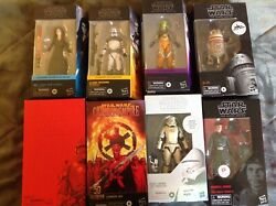 Star Wars Black Series 6 Inch Lot Of 8 Includes Exclusives And Carbonized