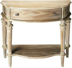 Console Table Traditional Antique Driftwood Brass Distressed Rubberwood Re
