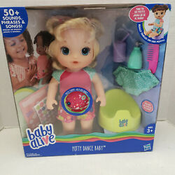 New Baby Alive Potty Dance Talking Interactive Doll Blonde Hair Rewards Chart +