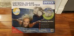 Intex Krystal Clear Saltwater System Above Ground Up To 15,000 Gallon Pools Nib