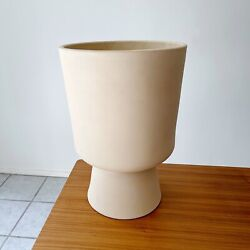 Malcolm Leland For Architectural Pottery Bisque Chalice Planter