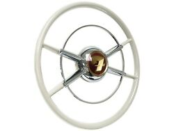 The Crestliner Ivory Steering Wheel Kit With 3-bolt Fitment Anniversary Edition