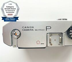 Rare【near Mint】canon P Cherry Engraving Jsdf Leica Screw Mount From Japan 1617