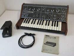1970and039s Korg 770 Synthesizer And Fk-4 Polyphonic Ensemble Pedal