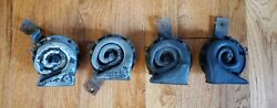 Vintage Car Horn Lot Of 4 Delco Remy Horns For Parts Or Repair Gm