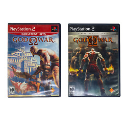 Sony Playstation 2 Ps2 God Of War 1 And 2 Video Games