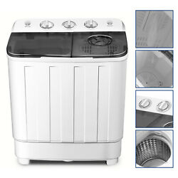 17lbs Portable Washing Machine Twin Tub Top Load Compact Washer Spin Dryer