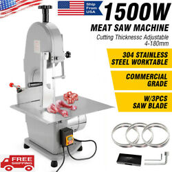 110v Commercial Electric Bone Sawing Cutting Machine Meat Cutter Steak Table
