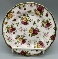 Royal Albert Old Country Roses Soft Pink Lace Salad Plate Signed Michael Doulton