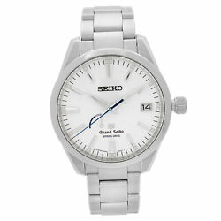 Grand Seiko 40mm Power Reserve Steel Silver Dial Automatic Mens Watch 9r65-0bm0