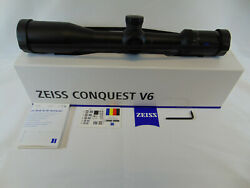 Zeiss Conquest V6 5-30x50 Scope Sfp German 4 Style Reticle 30mm 522251-9906-070