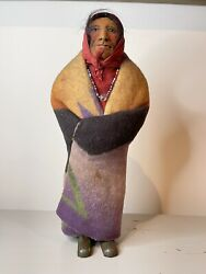 Mary Francis Woods Indian Doll Antique Made In Usa