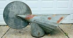 Old Roof Vent Sioux Steel Silo Building Advertisement Sign Dairy Farm Dirigible