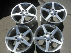 2008 Chevrolet Corvette Factory Wheels 18 And 19 Inch And Center Caps 4